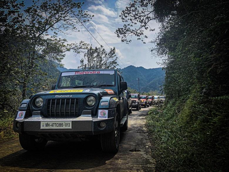 Mahindra Thar at Trans Arunachal Drive 2021