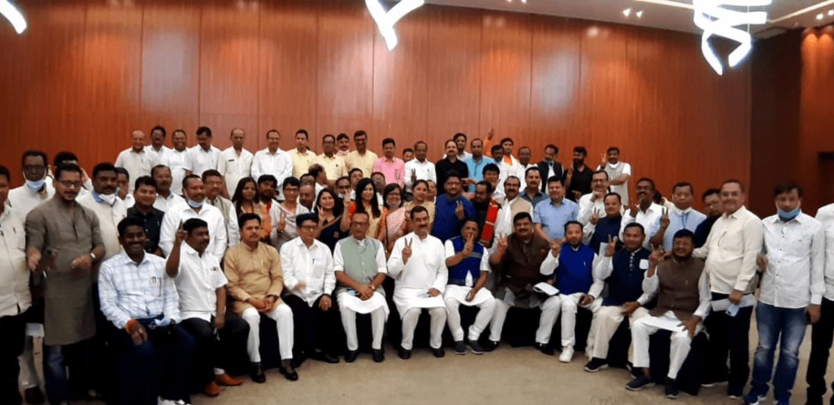 Mahajot candidates at Hotel Kiranshree in Guwahati