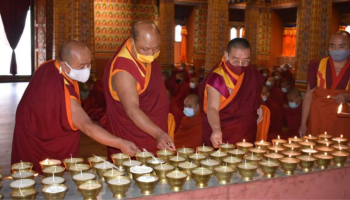 In pics: Bhutan offers a thousand butter lamps for COVID-19 victims