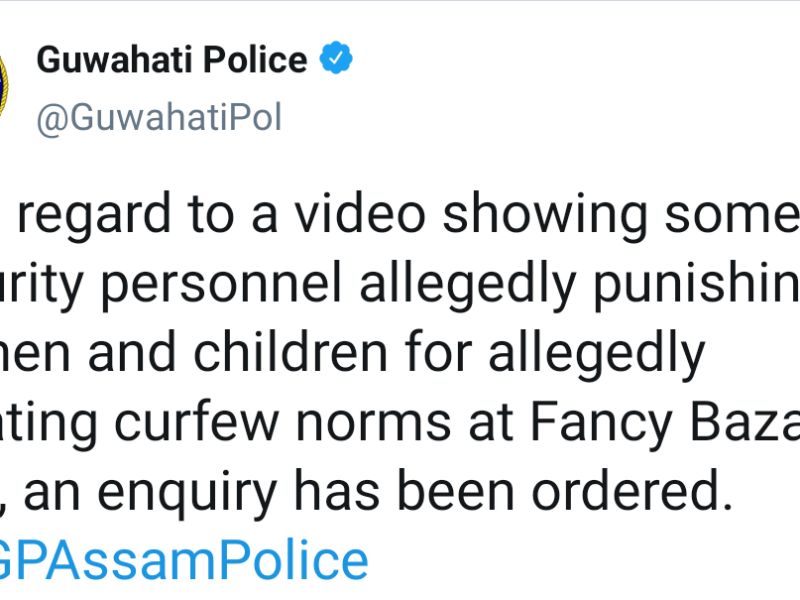 Children made to do sit-ups for violating curfew norms, Assam police orders probe