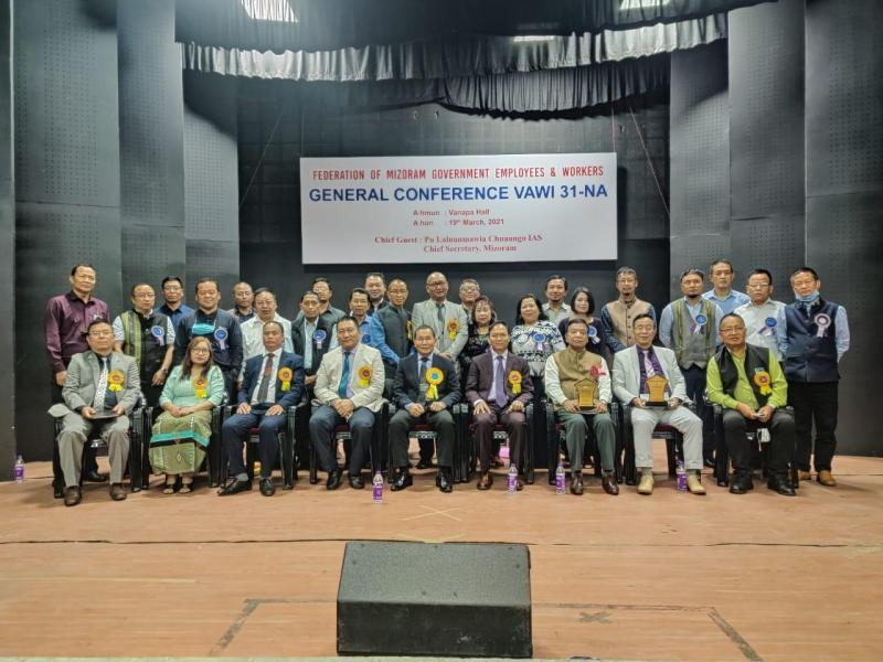 Members of the Federation of Mizoram Government Employees & Workers