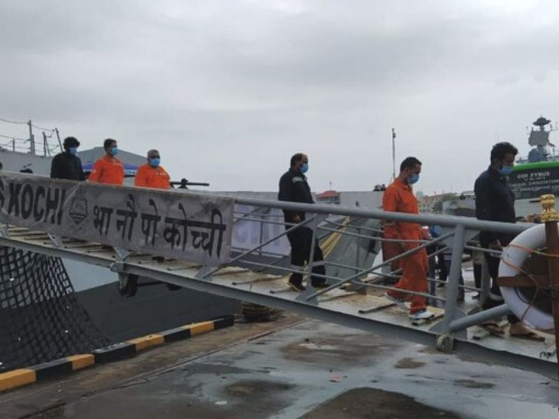 Cyclone Tauktae: INS Kochi brings 125 rescuees from barge P305 to Mumbai