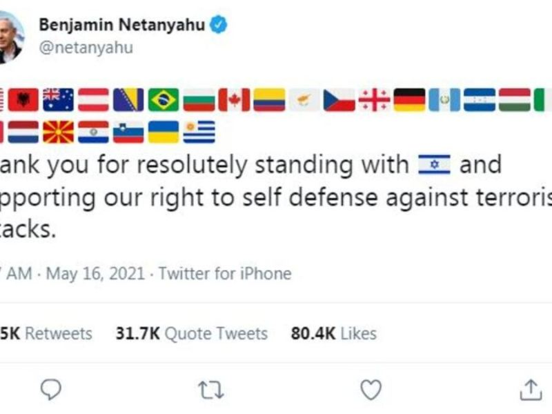 PM Netanyahu tweets, thanks 25 nations for supporting Israel. But where's India?