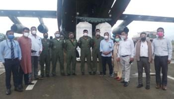 Manipur: Equipment for oxygen plants at Churachandpur, Thoubal reach Imphal Airport