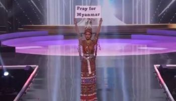 Myanmarese contestant pleads at Miss Universe stage: 'Pray for Myanmar'