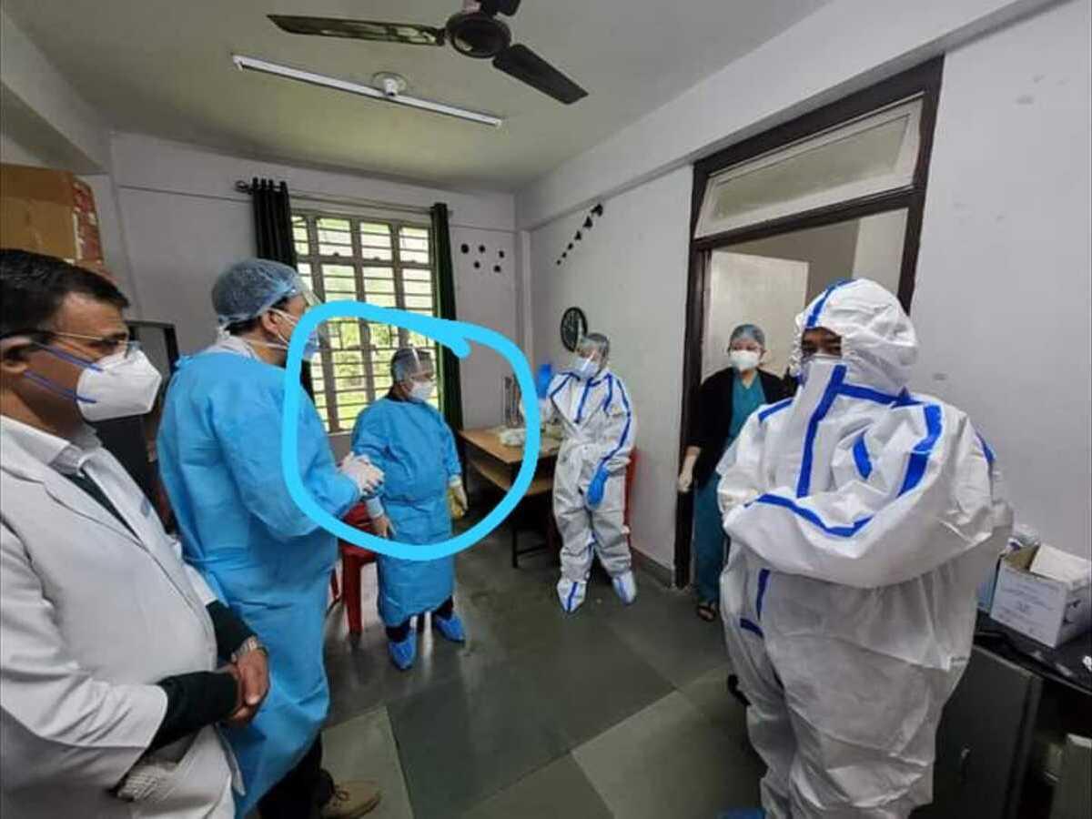 Sikkim CM PS Golay dons PPE suit to visit COVID-19 patients