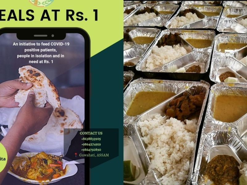 Guwahati: 'Sahamarmita' is helping COVID affected families with meals at Re 1