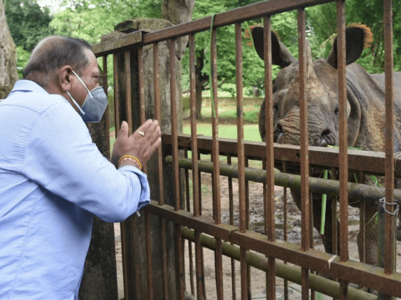 Assam forest minister visits Assam State Zoo to take stock of situation