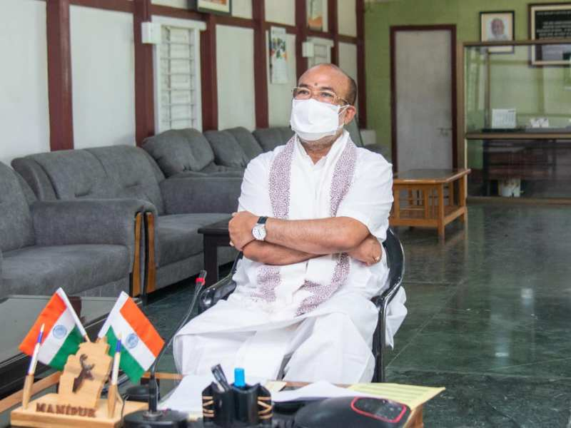 Manipur CM thanks Bazar community for meal services to COVID-19 patients