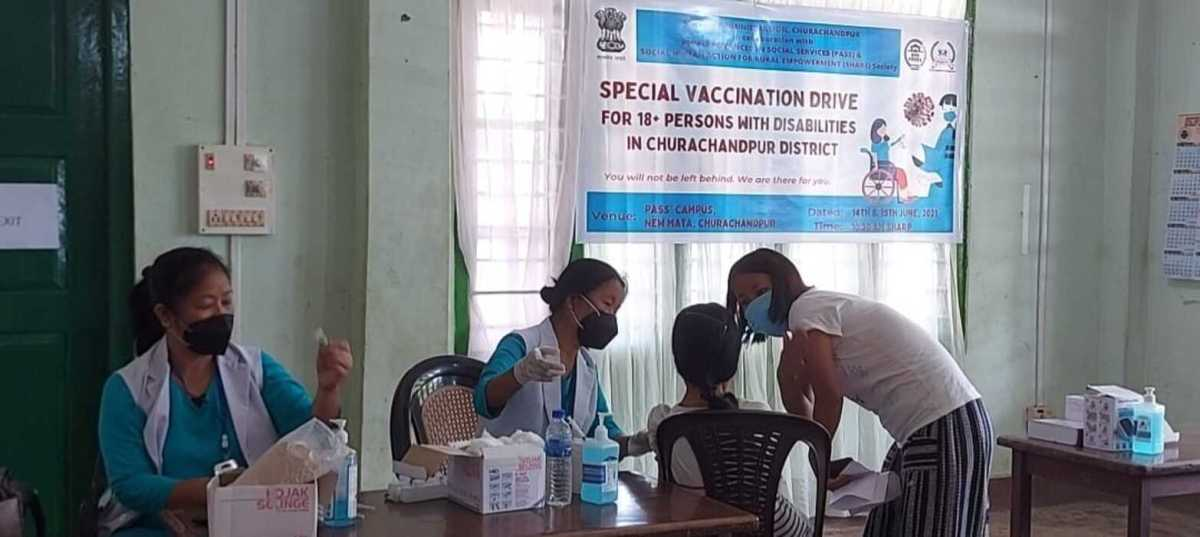 Manipur: 2-day vaccination drive begins for differently-abled persons in Churachandpur