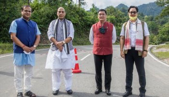 The BRO presented Kimin town in Arunachal Pradesh's Papum Pare district as part of Assam