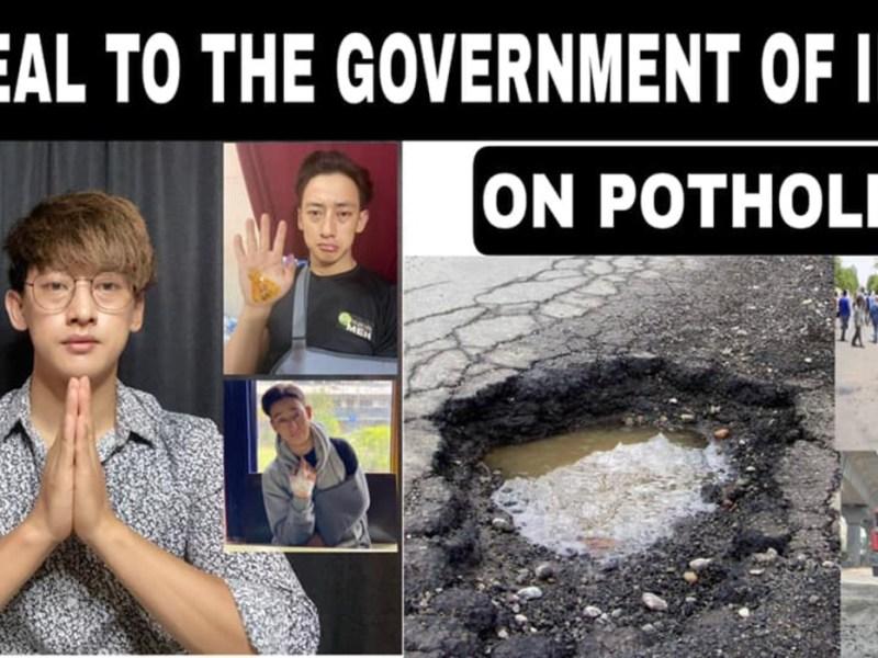 'Rubaru Mr India United Continents' Songashim campaigns on pothole menace