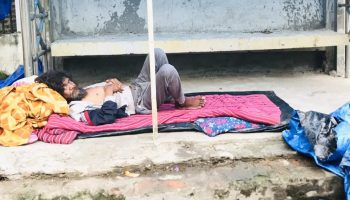 A homeless person living on the roadside in Duliajan was rescued by the Dibrugarh police on Wednesday