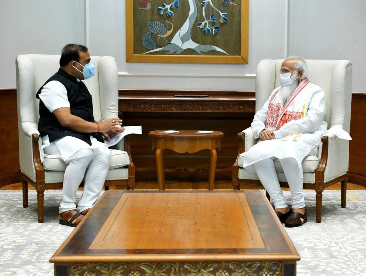 Assam CM Himanta Biswa Sarma calls on PM Modi