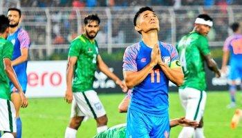 Sunil Chhetri one goal off entering all-time top-10 as India meet Afghanistan