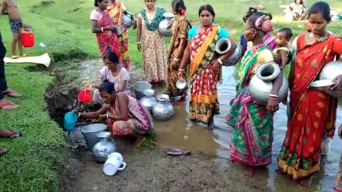 Villagers along Assam-Bhutan border still drink water out of a ditch
