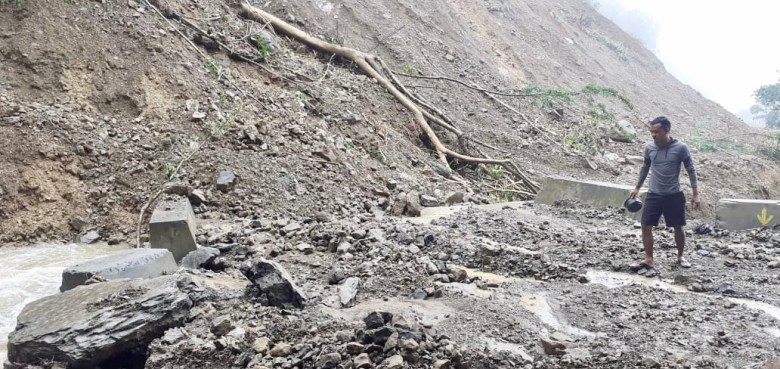 The roads in south Mizoram, especially in Lawngtlai, are in bad condition