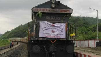 Manipur: Passenger train on trial run reaches Vaingaichunpao from Silchar