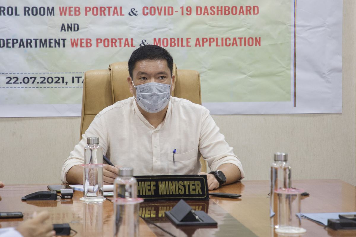 Achieve 100% first-dose vaccine coverage by mid-Aug: Arunachal CM to districts