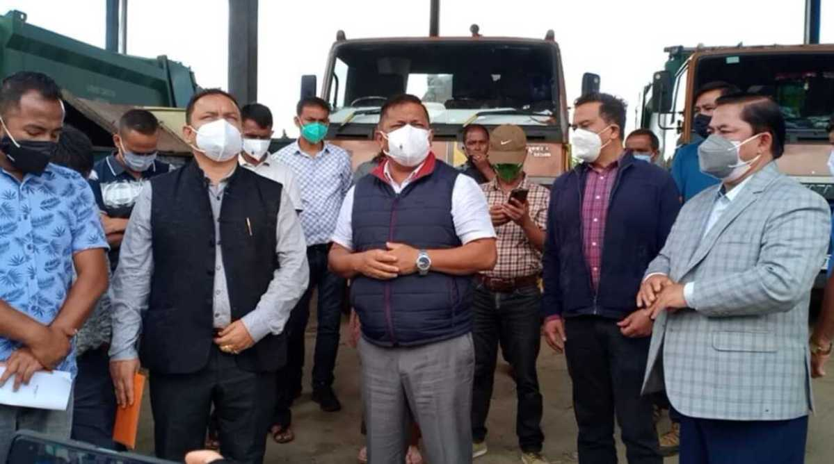 Meghalaya minister compelled to inspect Marten landfill site after SSMP 'locks' gate