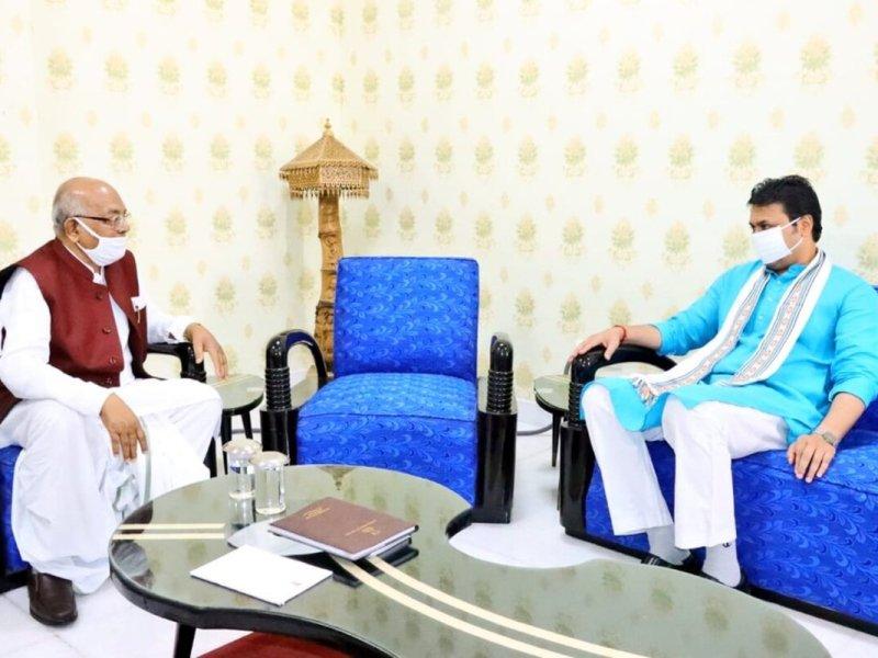 Cabinet expansion soon? Amid speculations, Tripura CM meets governor Satyadev Arya