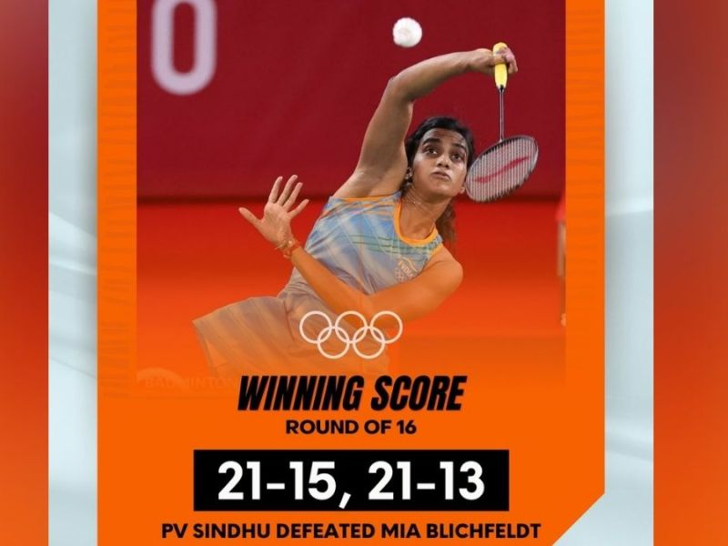 P V Sindhu eases into quarterfinals of Tokyo Olympics
