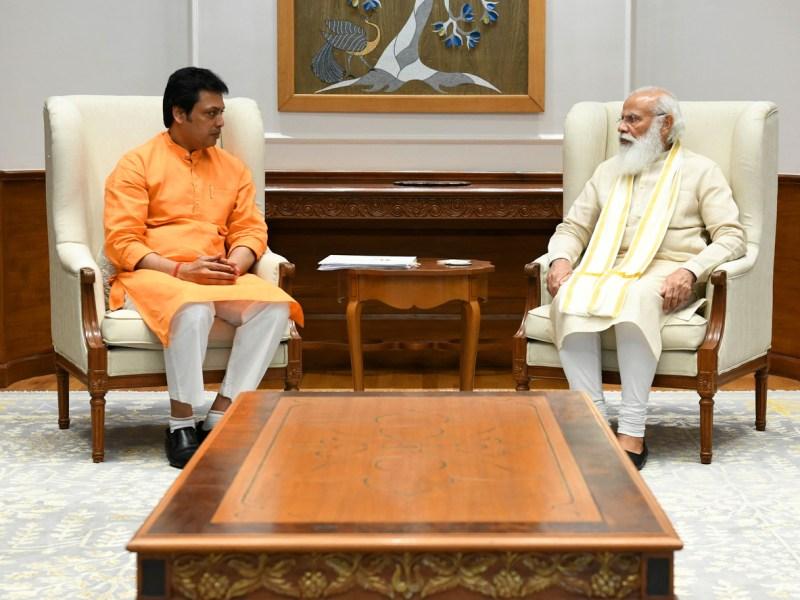 Cabinet expansion? Tripura CM meets PM Modi, BJP top brass in Delhi