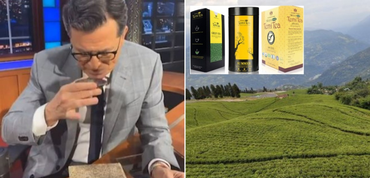 Sikkim's Temi Tea is Stephen Colbert's drink on The Late Show