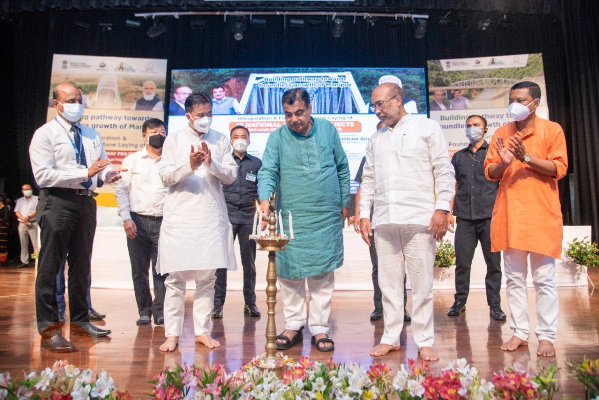 Gadkari inaugurates, lays foundation stone for 16 highway projects in Manipur