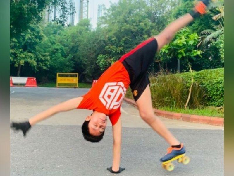Tiluck Keisam sets Guinness World Records for most cartwheels on roller skates