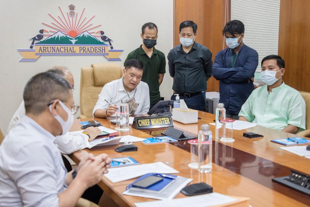 Arunachal: Khandu launches SWAN, digital connectivity to districts HQs