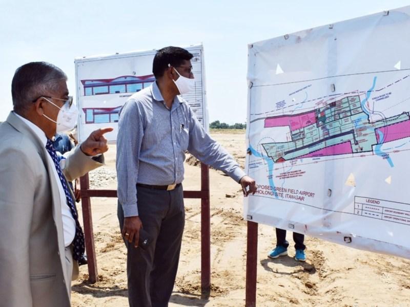 Arunachal Pradesh governor reviews progress of Hollongi Airport
