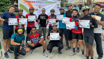 Pedal for Health cycle ride in Guwahati to celebrate National Sports day