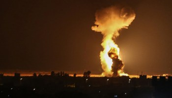 Israel military strikes Hamas after launch of fire balloons