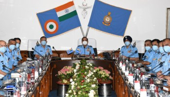 Shillong: IAF chief at commanders' conference of Eastern Air Command