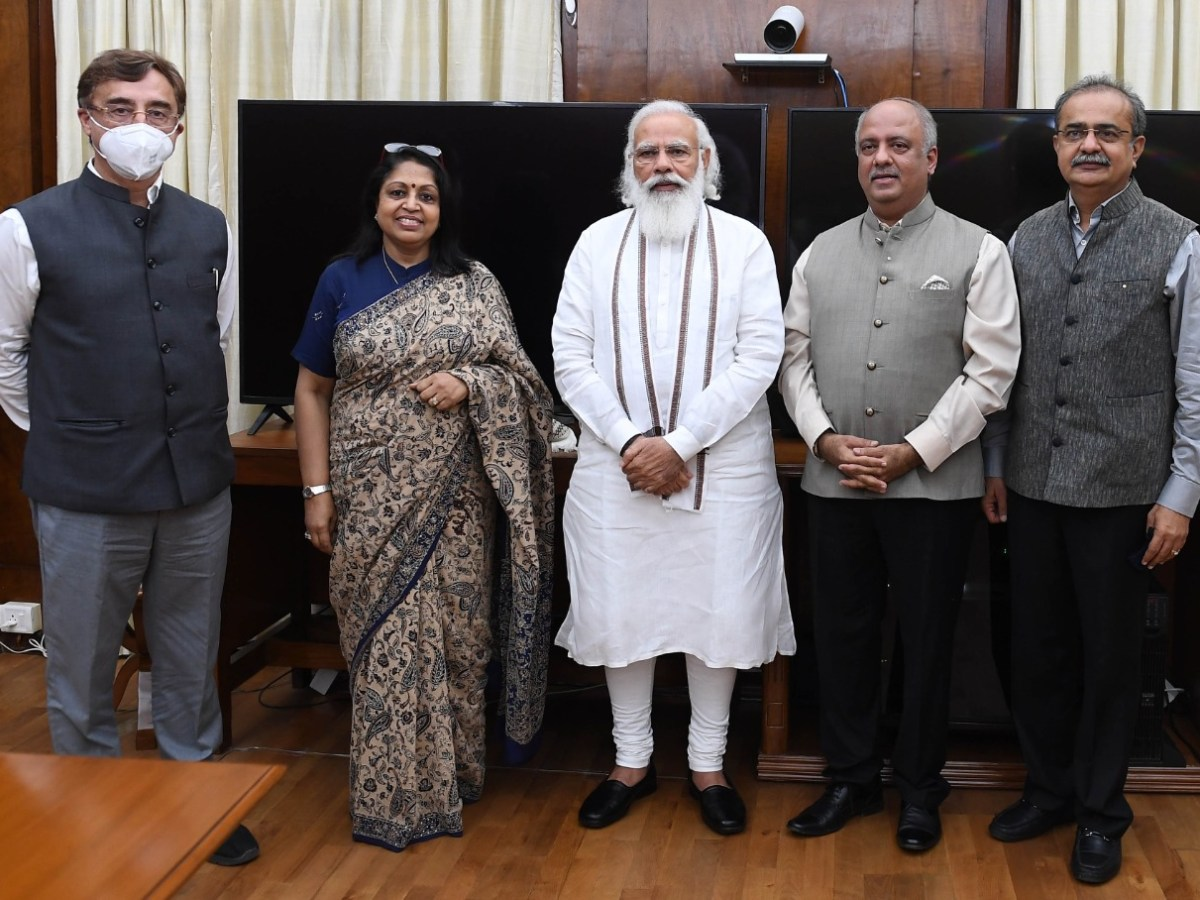 Rotary International President pays goodwill visit to PM Modi