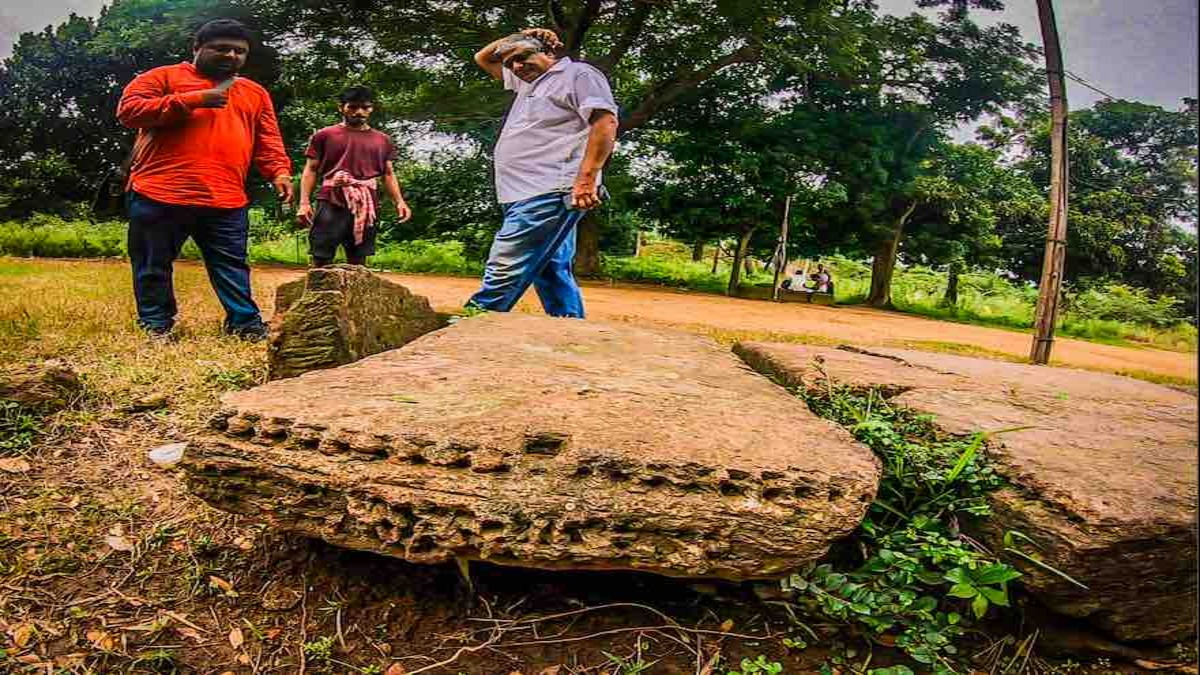 Ruins of ancient temple found in Bhargavi river bed in Odisha