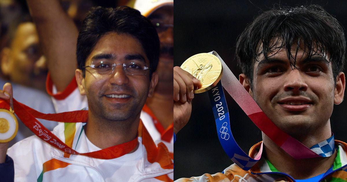 Tokyo Olympics gold medallist Neeraj Chopra meets Abhinav Bindra