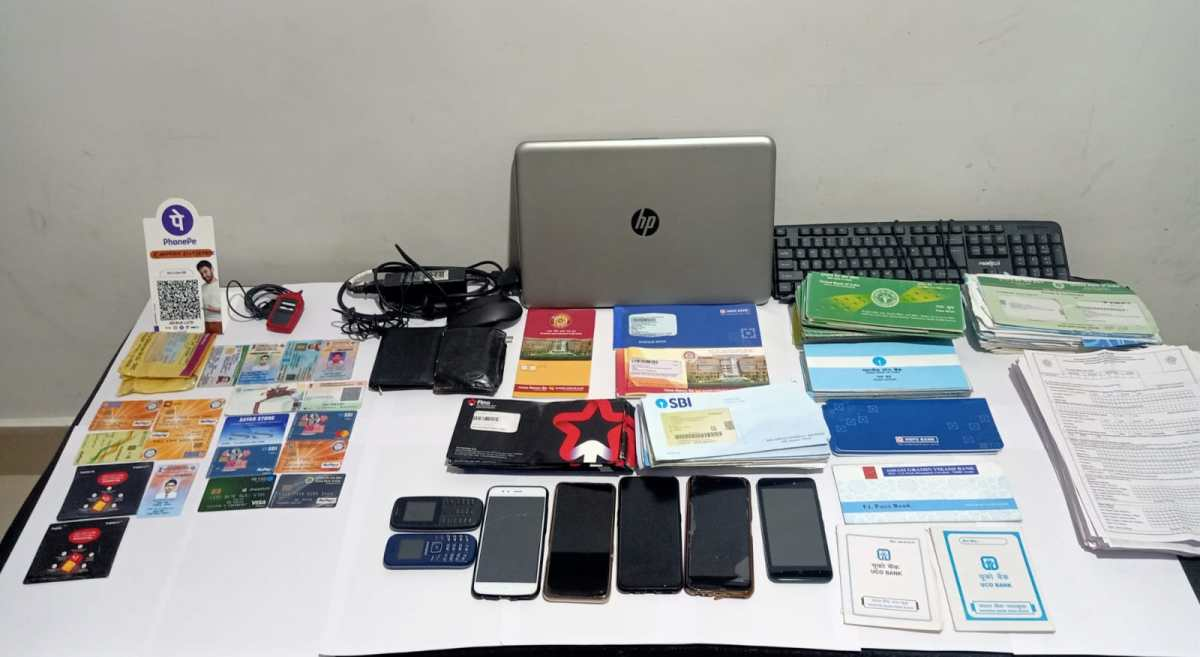 59 debit cards and five forged Sims recovered