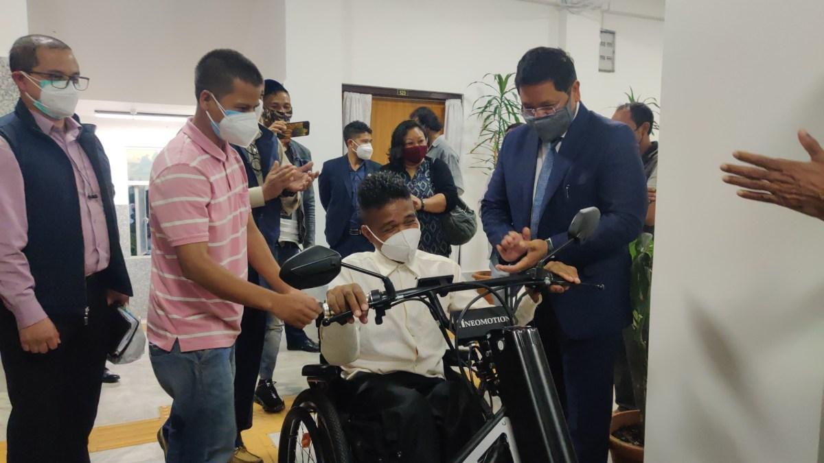 Meghalaya entrepreneur receives special gift from CM Sangma
