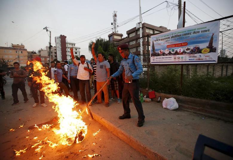 Nepal - India PM effigy