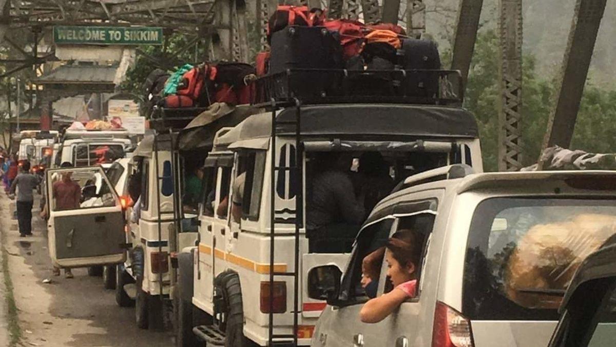 Sikkim: 16 landslides on NH 10, Rangpo bridge loses support pillars