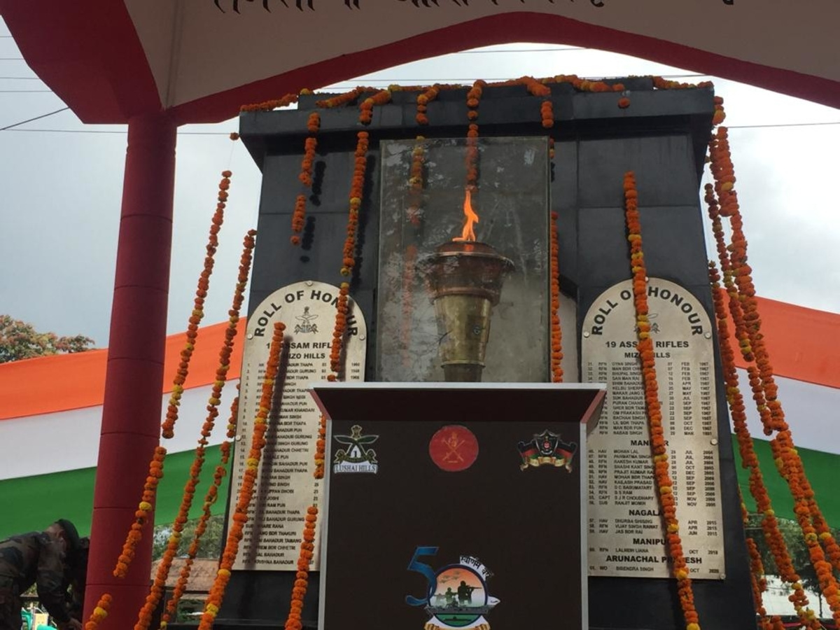 The Victory flame in Kohima