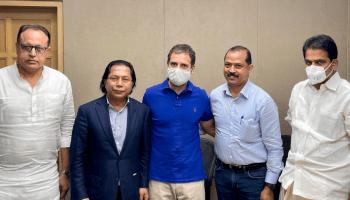 Meghalaya Cong: Rahul Gandhi meets Mukul Sangma, Vincent Pala over 'rift'