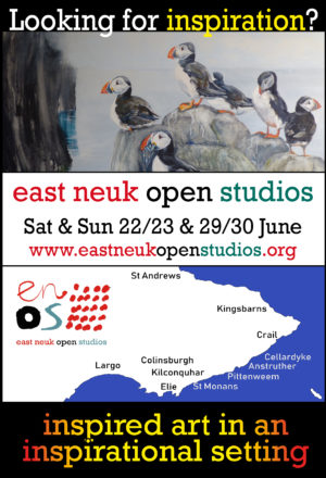 Looking for inspiration?  east neuk open studios Sat & Sun 22/23 & 29/30 June  www.eastneukopenstudios.org  inspired art in an inspirational setting