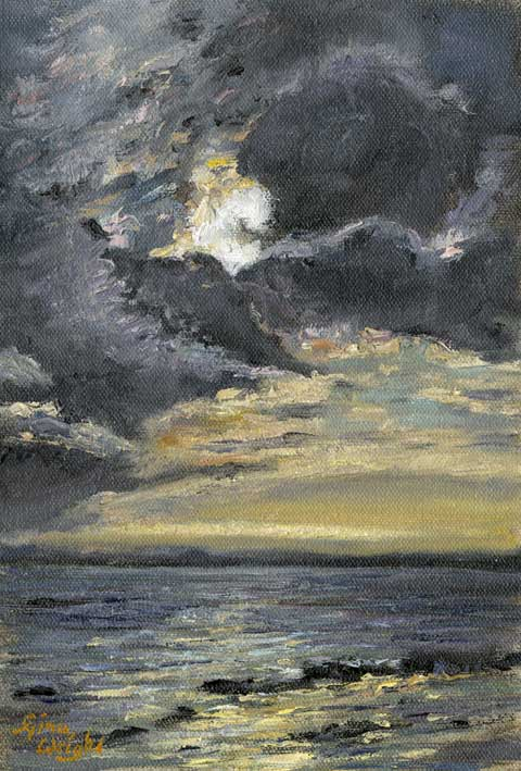 Passing Storm, Pittenweem, Oil