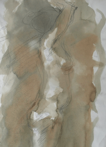 Figure sketch (line and wash)