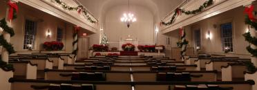 Easton Church inside with Chritmas decorations