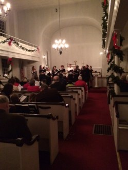 Joel Barolow Choir at Christmas Carol Sing-Along 1