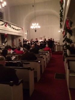 Joel Barolow Choir at Christmas Carol Sing-Along 1
